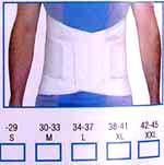 Lumbosacral elastic contoured support