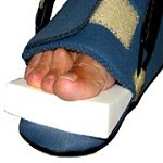 Foam Toe Wedge close up for Night Splint and Multi Use Boot